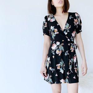 SUMMER SALE ! OLIVIA Faux wrap floral dress
